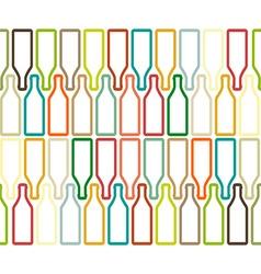 Bottle silhouette color vector