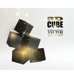Glow box pyramid vector