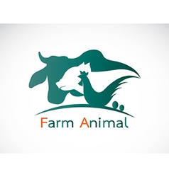 Group of animal farm label vector