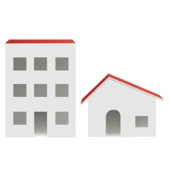 City and village buildings vector