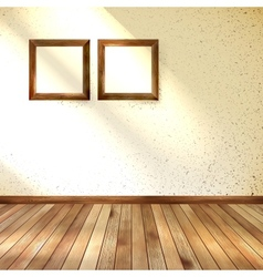 Frame hanging on wall interior template eps 10 vector