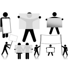 Symbol people hold sign background spaces vector