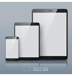 Set of smart phone and tablet vector