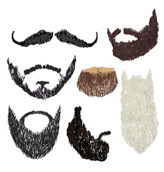 Beard with mustache vector
