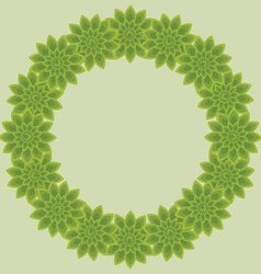 Foliage wreath vector