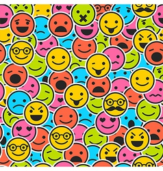 Seamless pattern with color emoticons vector