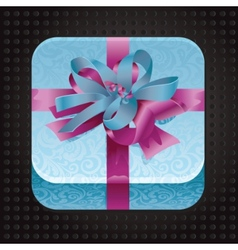 Beatiful app icon with present vector