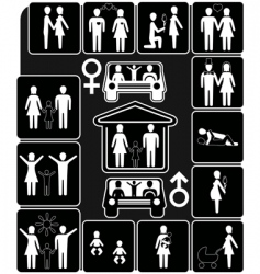 Stages of family life vector