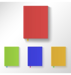 Book with color covers and bookmarks vector