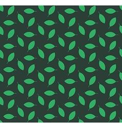Minimalist green leaves seamless pattern vector