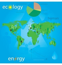 Ecology and people vector