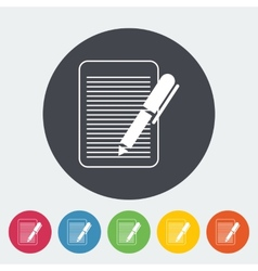 Document single flat icon vector