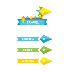 Flat bird travel company logo with identity vector