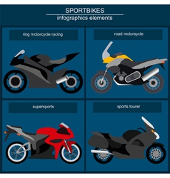Set of elements sportbikes for creating your own vector