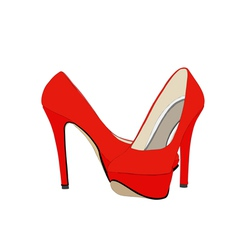 Red shoes 129 vector