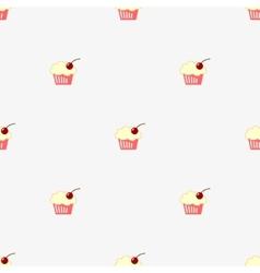Seamless pattern sketch cupcake vector