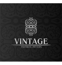 Vintage decor label ornament background emblem vector