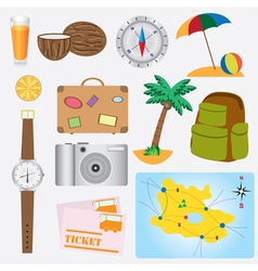Vacation objects vector