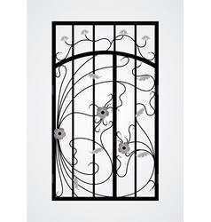 Forged gate door vector