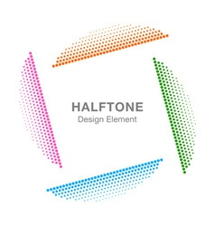 Colorful abstract halftone design element vector