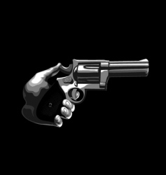 Gun in the hand vector
