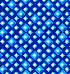 Seamless pattern from paper rhombus on a blue vector