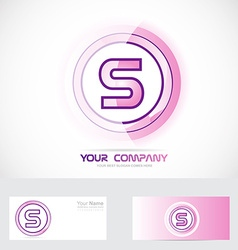 Letter s pink logo vector