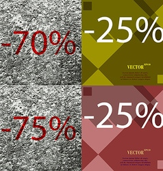 25 75 icon set of percent discount on abstract vector