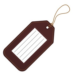 Luggage tag vector