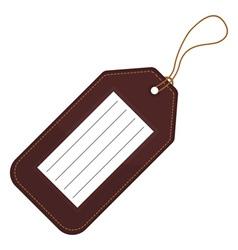 Luggage tag vector