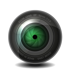 Camera photo lens with shutter vector