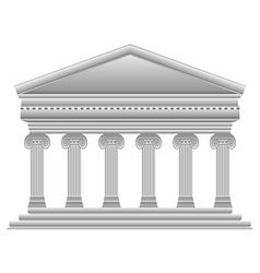 Ionic greek temple vector