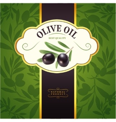 Decorative olive branchfor label pack seamless vector