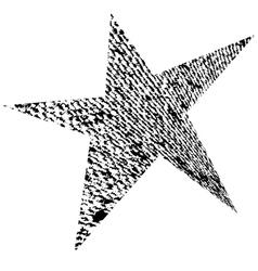Original grunge star vector