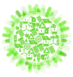 Ecological concept protection of planet vector