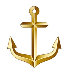 Golden anchor vector