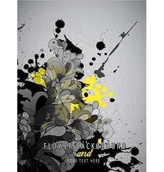 Abstract splash background with flower pattern and vector