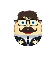 Businessman egg doll vector