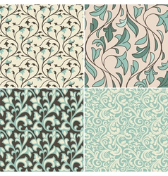 Set with vintage seamless patterns vector