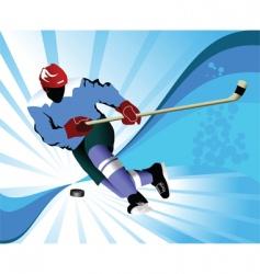 Gold hockey puck vector