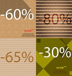 80 35 30 icon set of percent discount on abstract vector