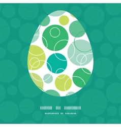 Abstract green circles easter egg vector
