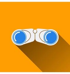 Modern binocular flat icon with long shadow vector