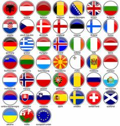 Shiny flags vector