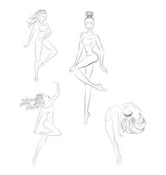 Contemporary dance vector