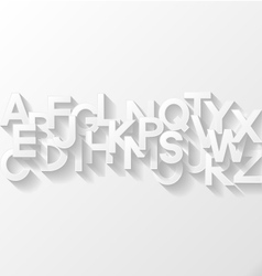 Abstract background with alphabet vector