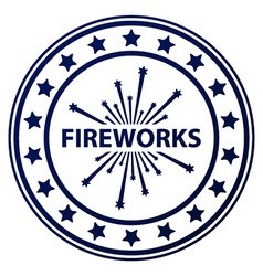 Fireworks stamp vector