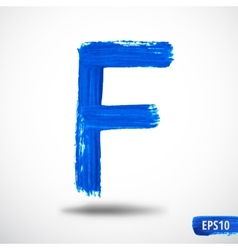 Alphabet letter f watercolor alphabet vector