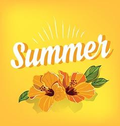 Summer postertypography vector