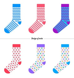 Set of socks with the original design vector